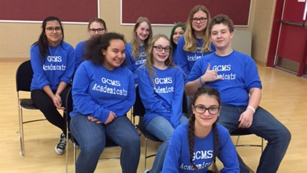 2016-2017 Gallatin County MS Academic Team